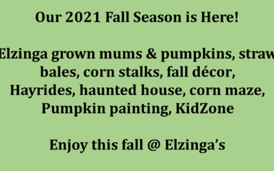 Open for Fall!
